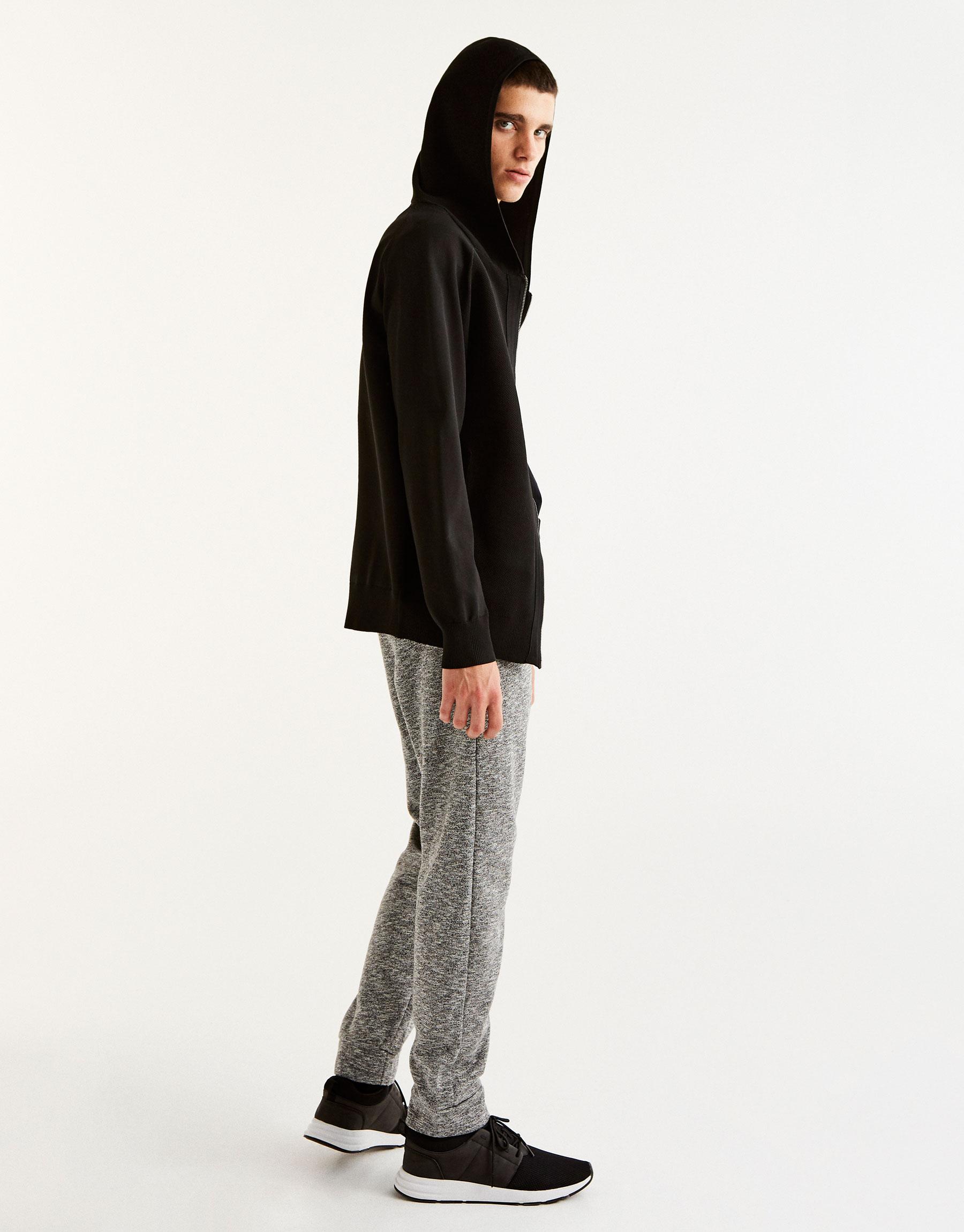 Pantalon jogging baggy gris