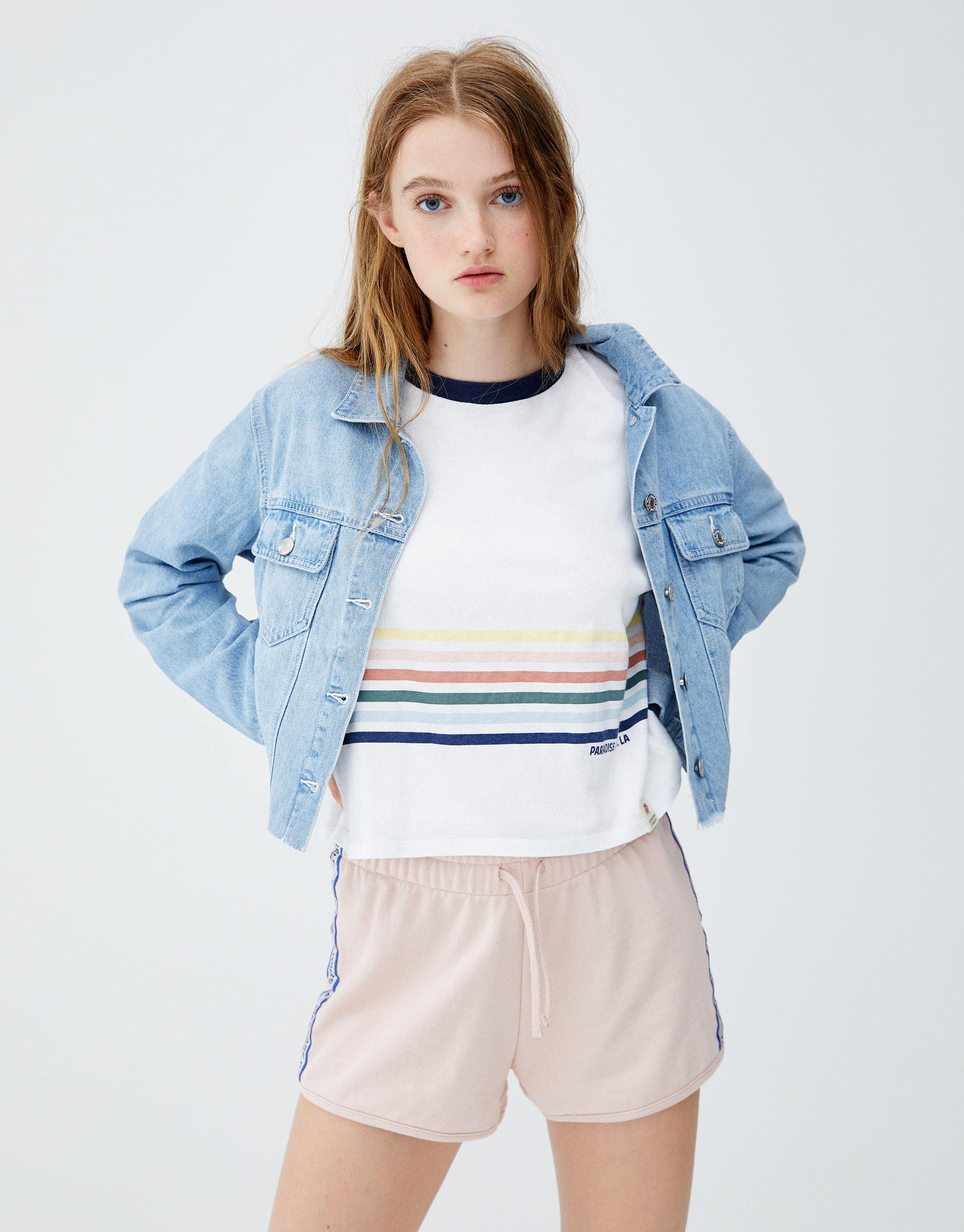 Imagen principal de producto de Camiseta rib arcoíris - Pull & Bear