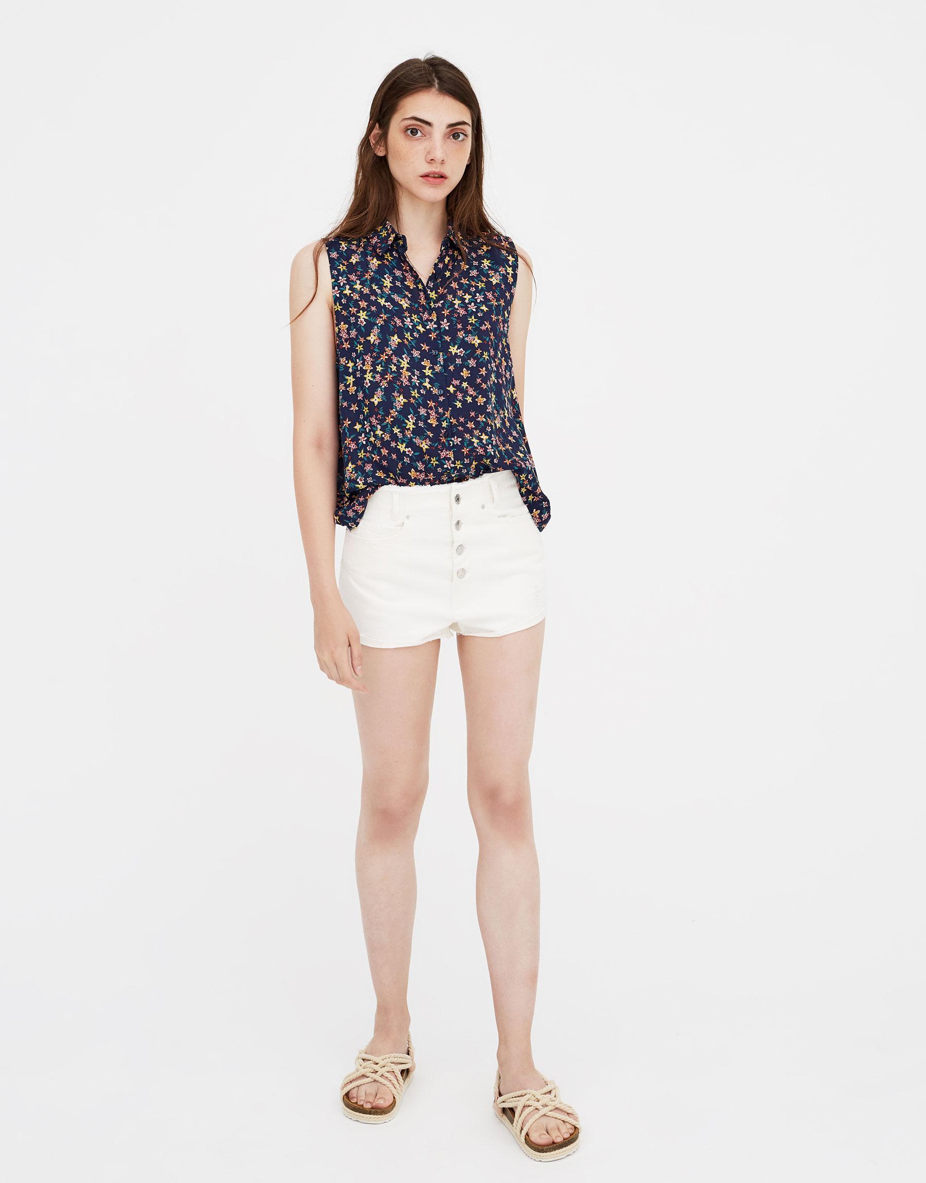 Imagen principal de producto de Camiseta sin mangas estampada - Pull & Bear