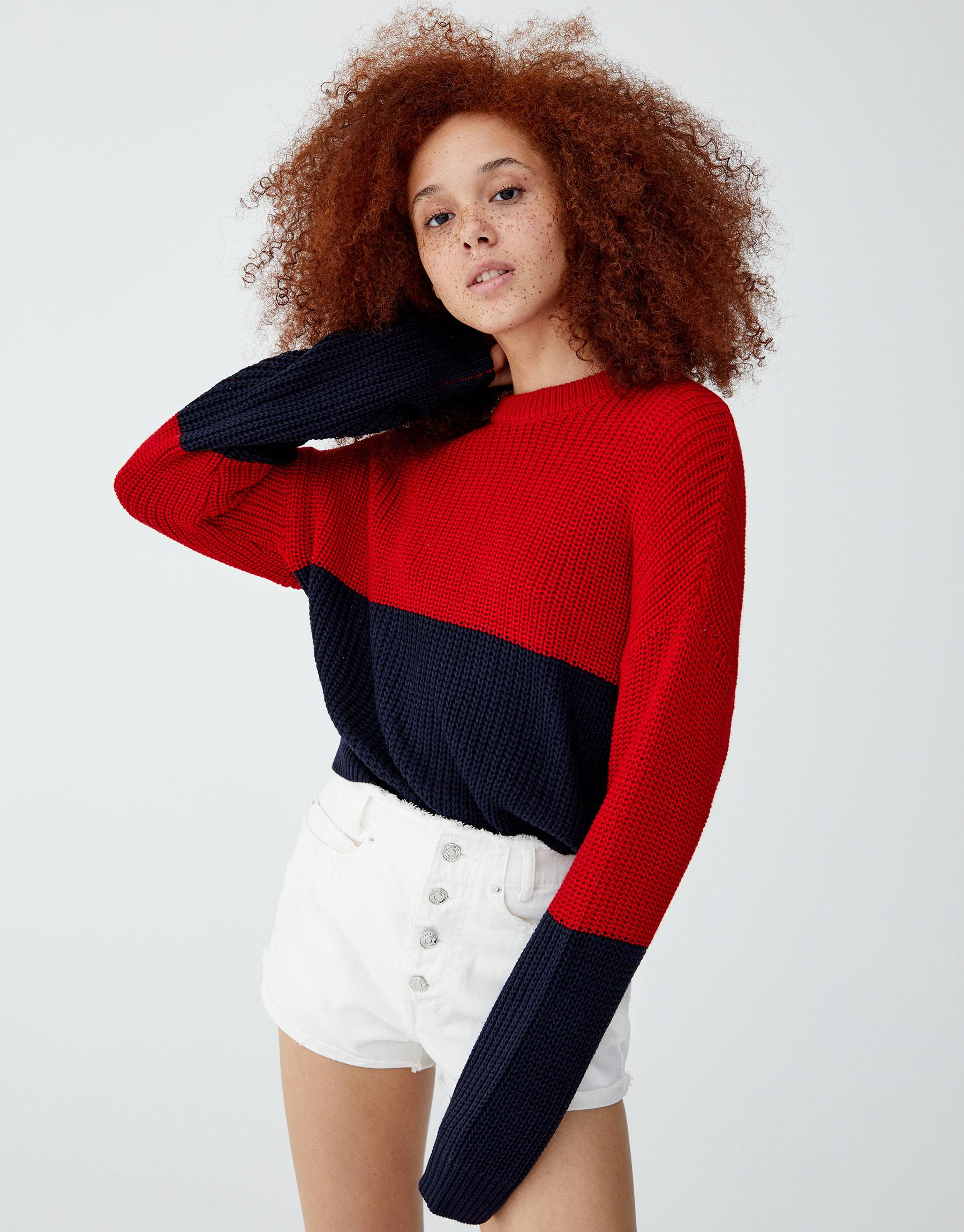 Imagen principal de producto de Jersey color block - Pull & Bear