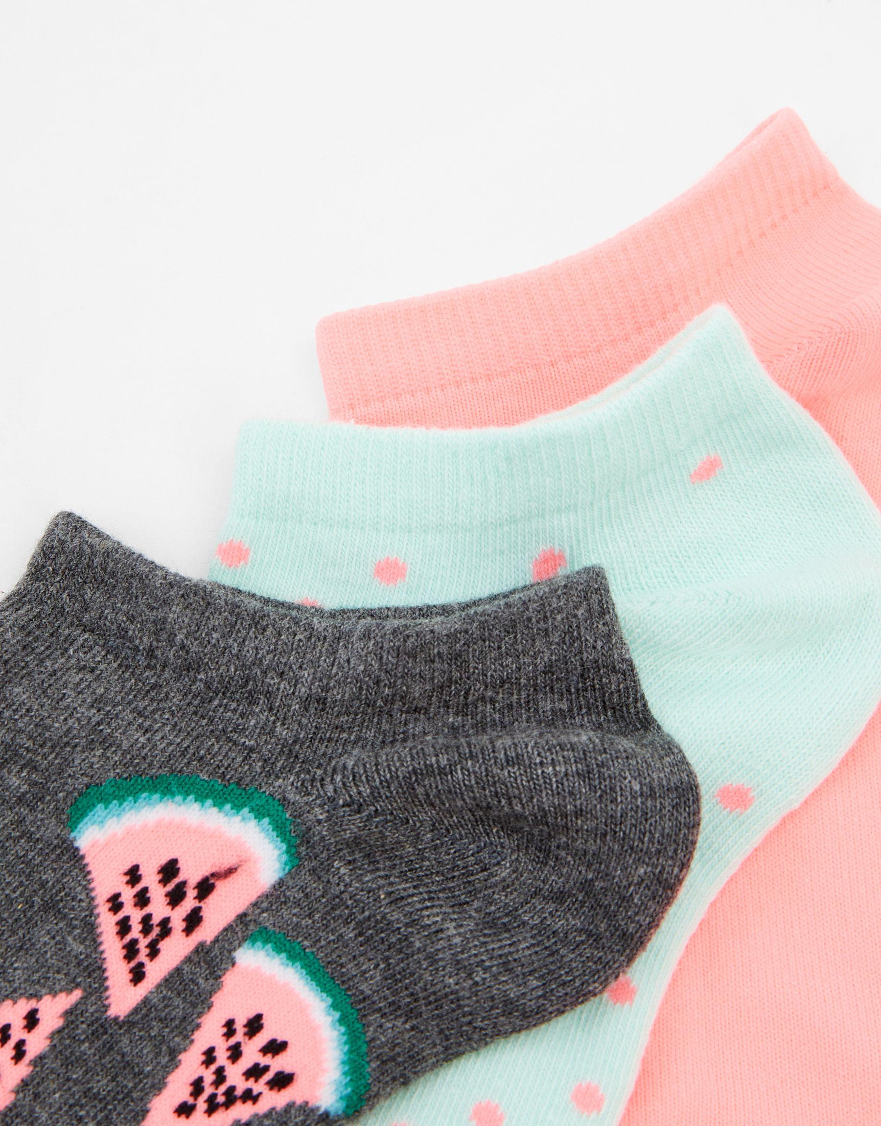 Imagen principal de producto de Pack 3 calcetines tobilleros sandías - Pull & Bear