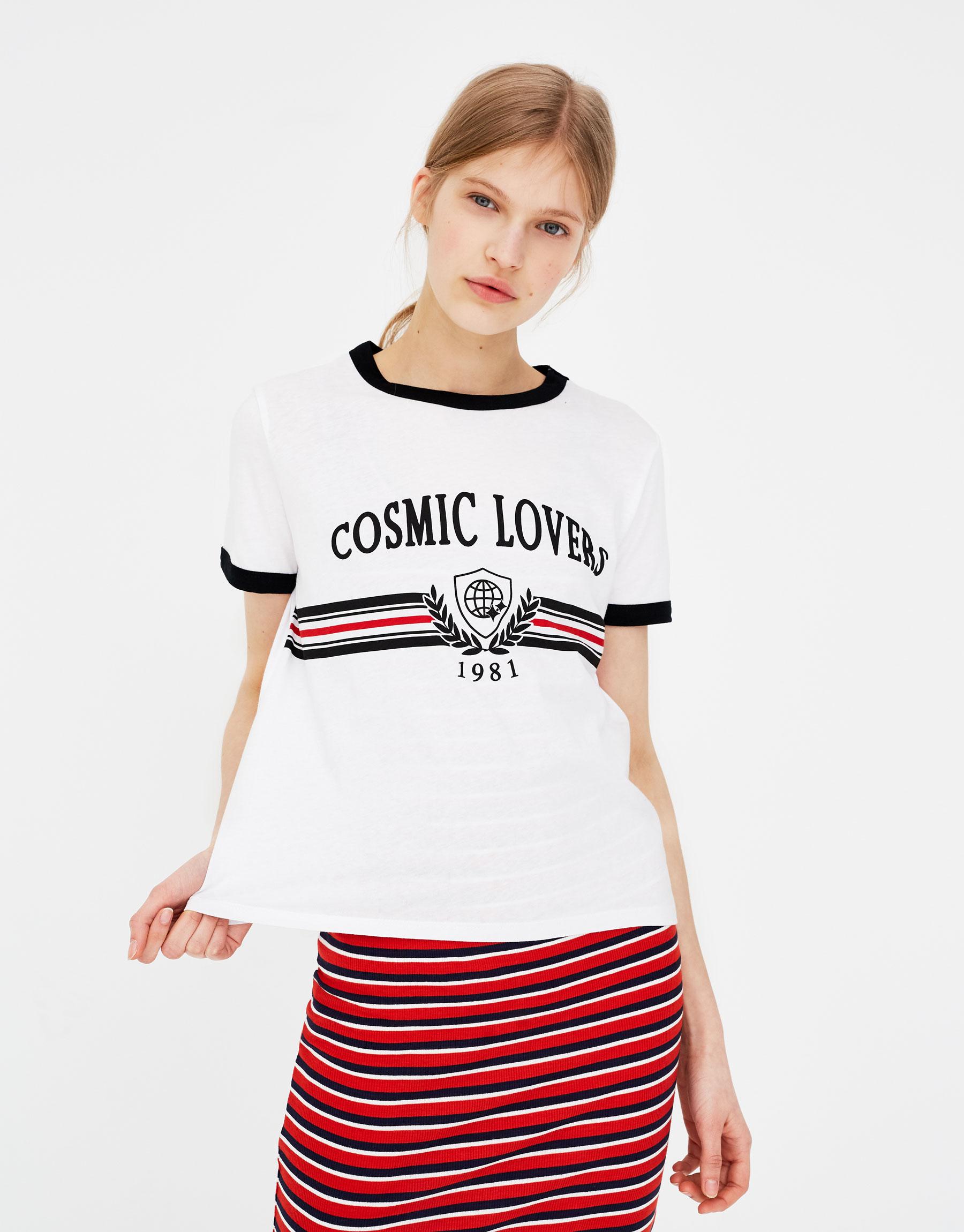 Imagen principal de producto de Camiseta texto cosmic lovers - Pull & Bear