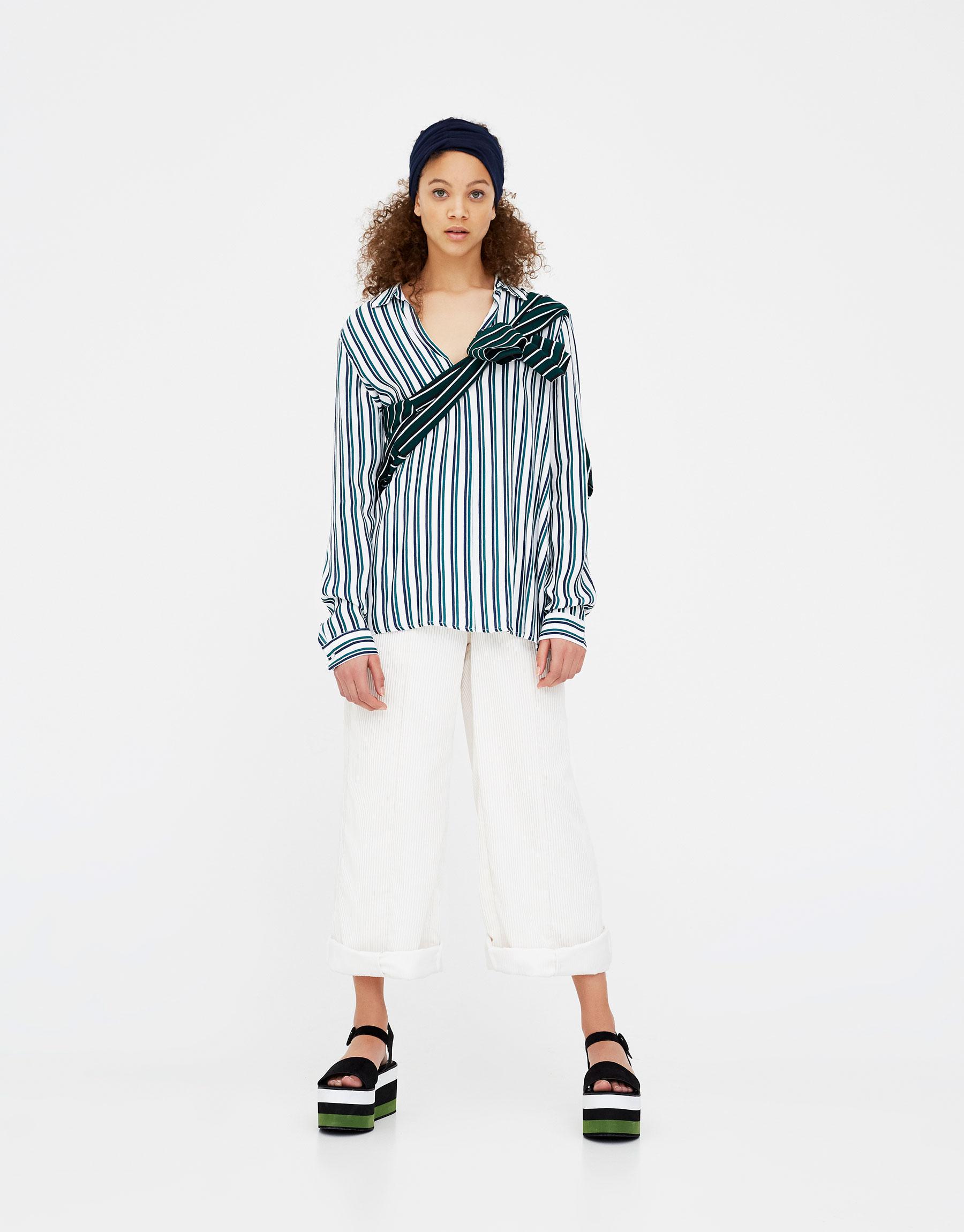 Imagen principal de producto de Camisa manga larga rayas - Pull & Bear