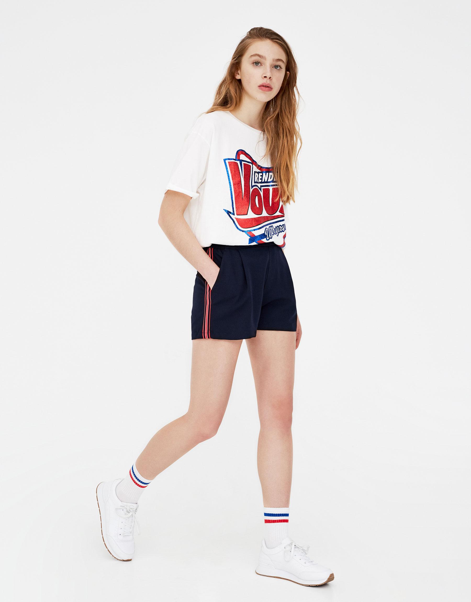 Imagen principal de producto de Shorts tailoring con banda - Pull & Bear