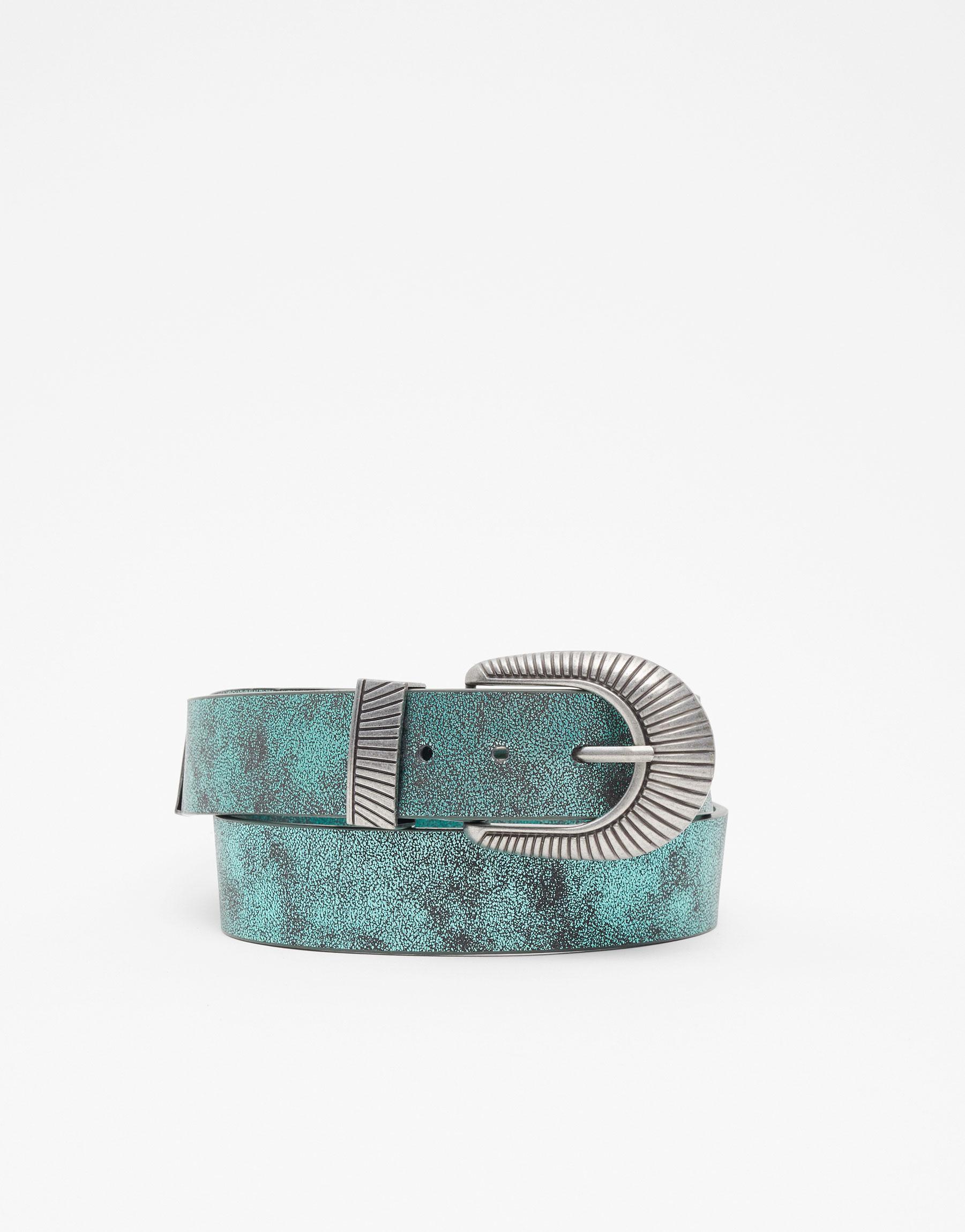Imagen principal de producto de Cinturón cowboy metalizado - Pull & Bear