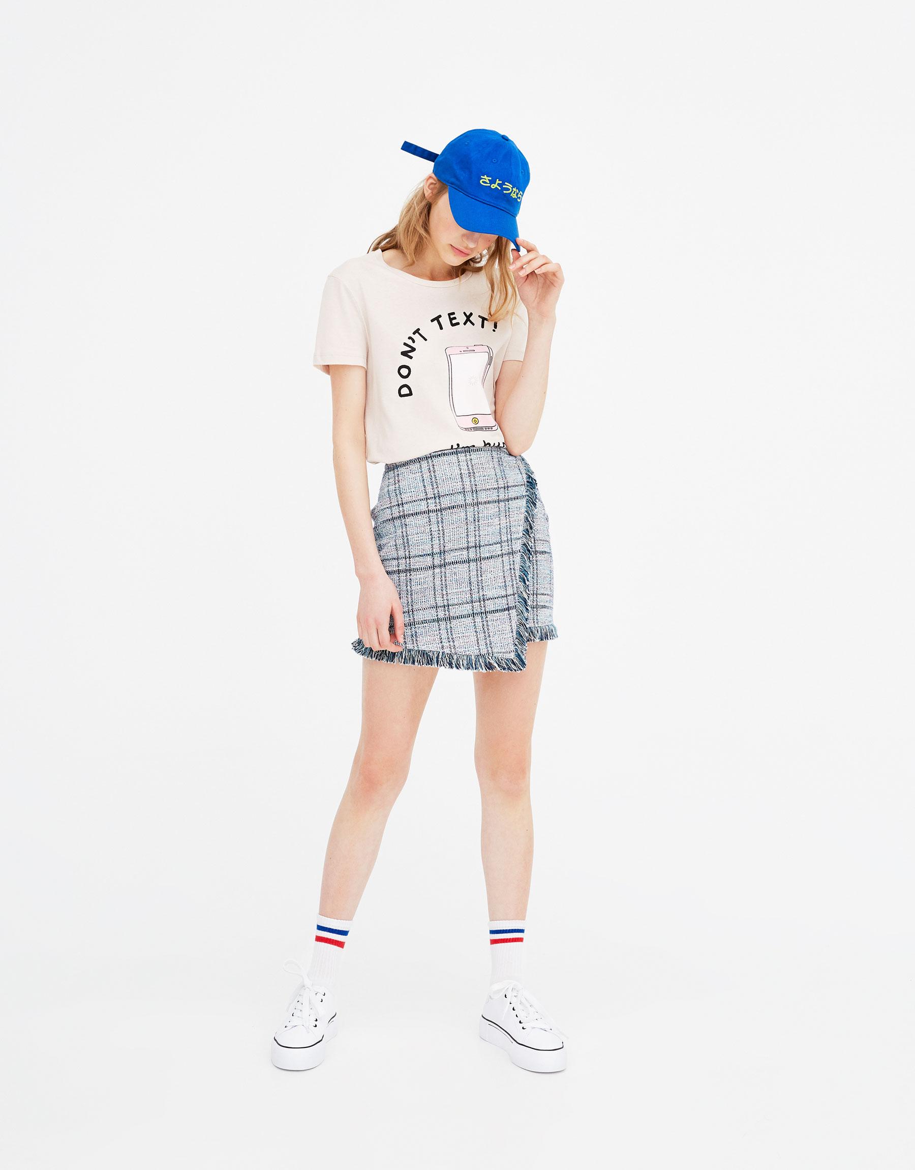 Imagen principal de producto de Camiseta texto y dibujo - Pull & Bear