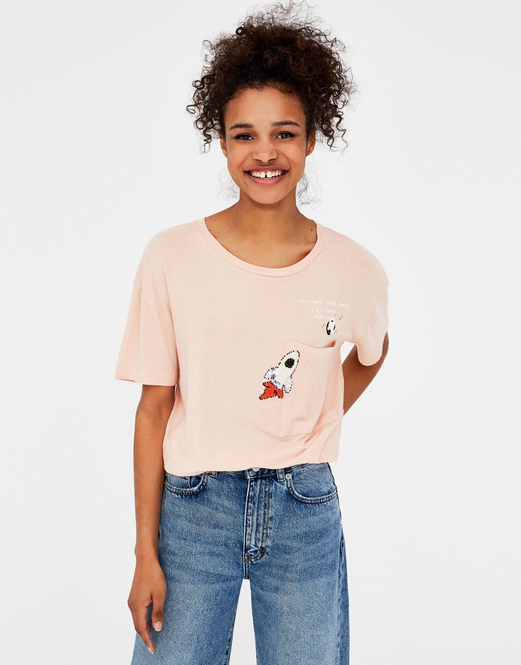 Imagen principal de producto de Camiseta básica cohete - Pull & Bear