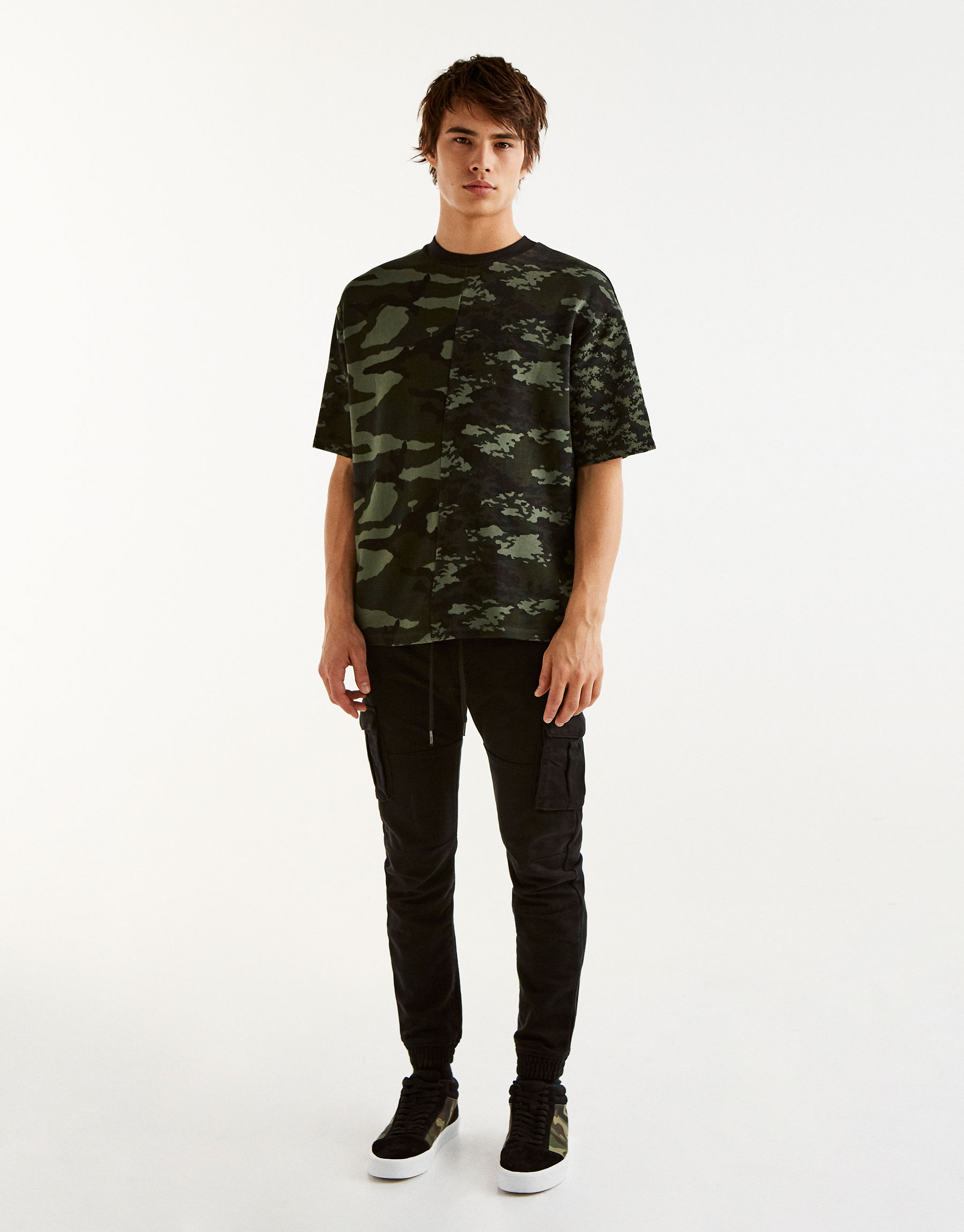 Sweat manches courtes camouflage