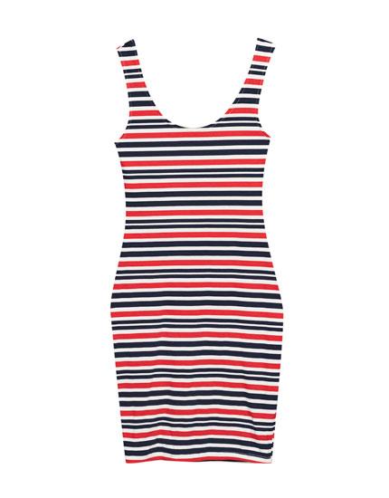 Printed strappy dress