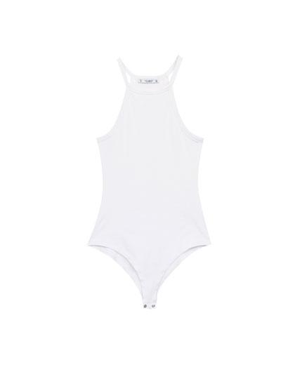 Halter-neck bodysuit