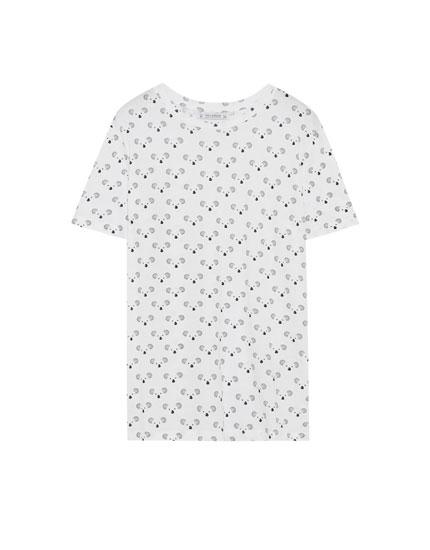 T-shirt with all-over koala print