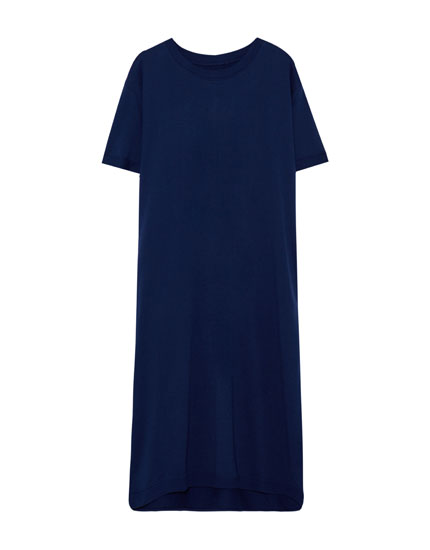 Basic dress with uneven hem