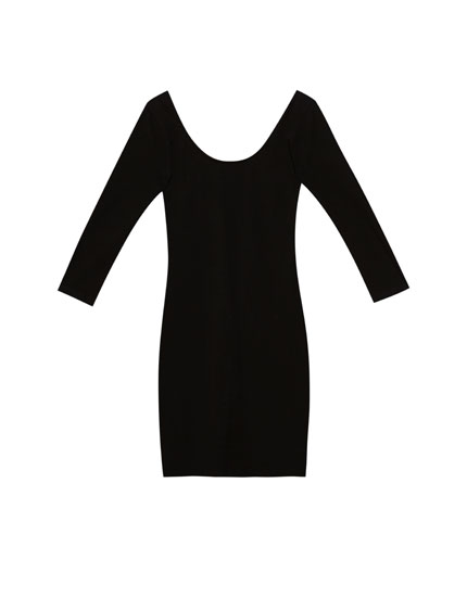 Dress with 3/4 length sleeves