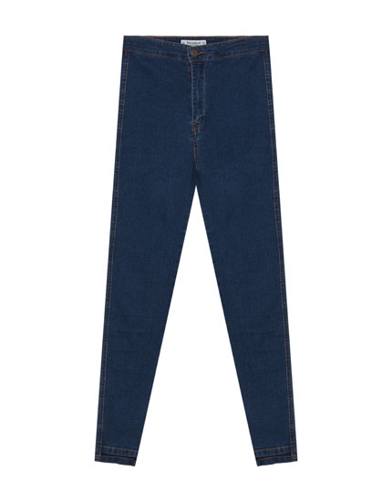 Skinny fit super high waist jeans