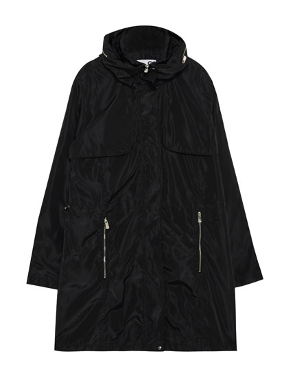 Lightweight parka with pockets