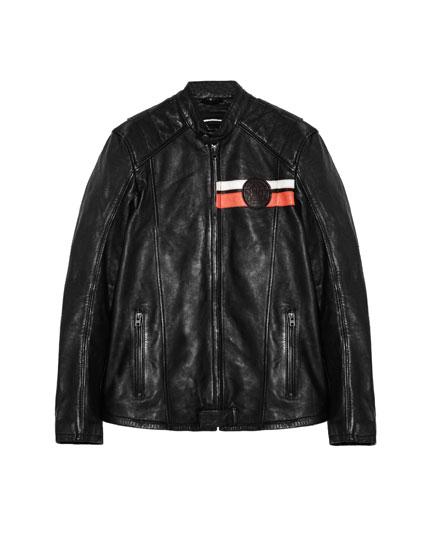 Exclusive online Marc Márquez collection leather jacket