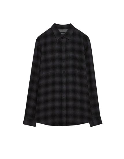 Shadow checked shirt