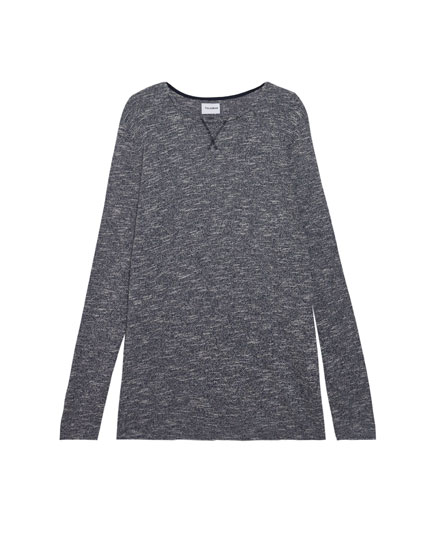Basic flecked sweater