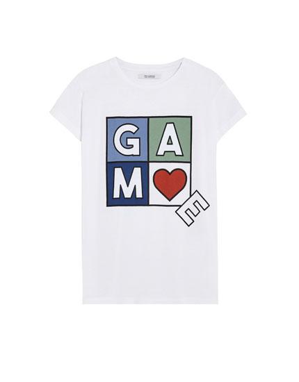 'Game' print T-shirt
