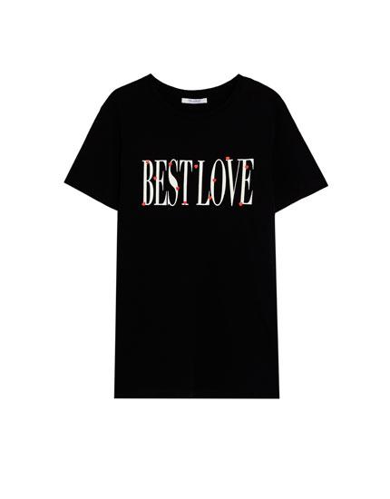 'Best Love' slogan T-shirt