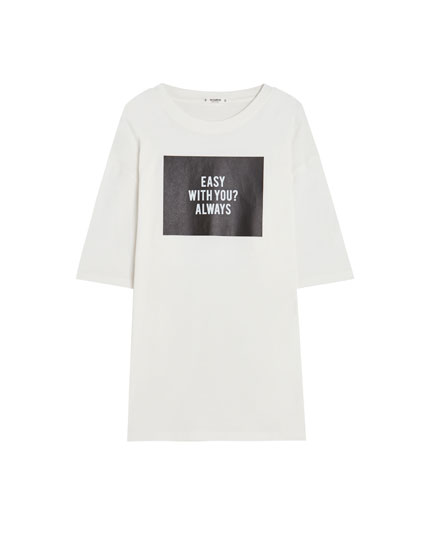 T-shirt with printed graphic