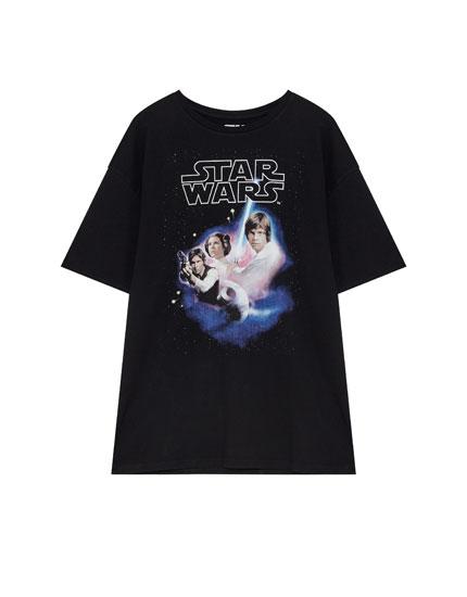 Star Wars poster print T-shirt