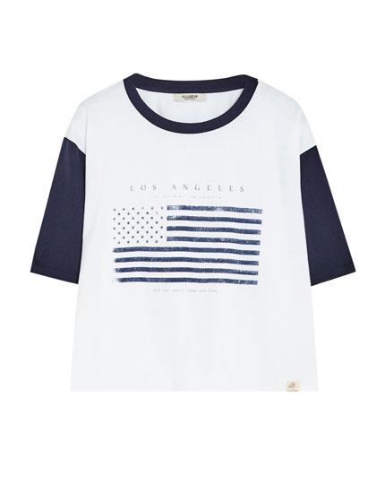 Short sleeved flag T-shirt