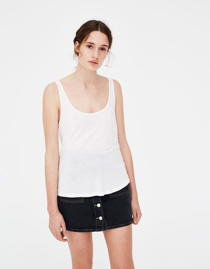 Basic oversized top with straps