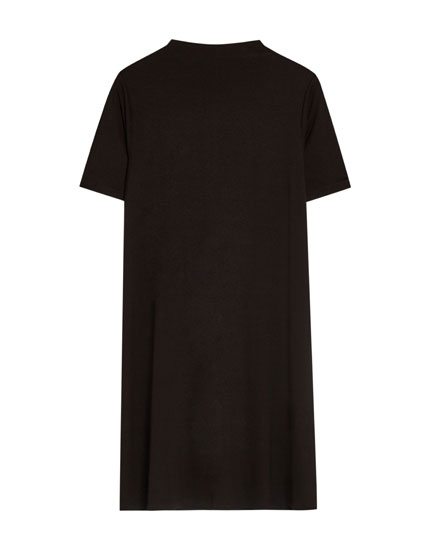 Plain short sleeve dress