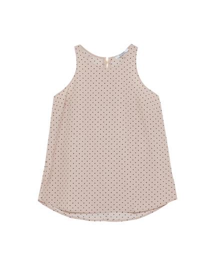 Sleeveless top with zip