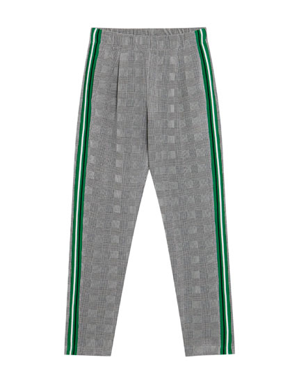 Jogging trousers with side stripes