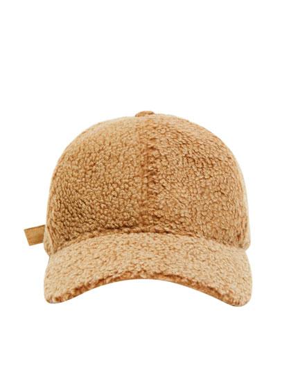 Faux shearling cap