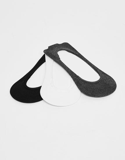 3-Pack of shoeliner socks