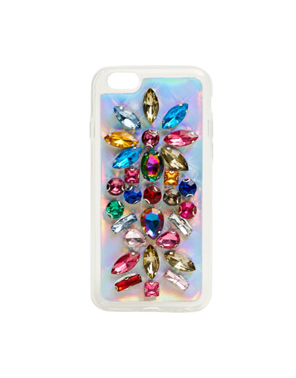 Bejewelled mobile phone case