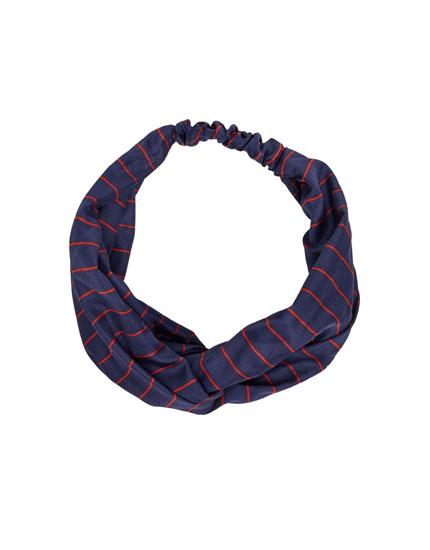 Pinstriped headband
