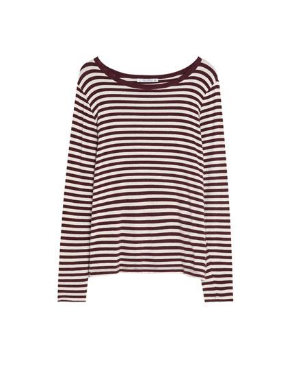 Long sleeve striped T-shirt