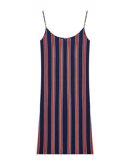 Strappy gingham dress