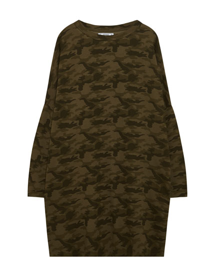Camouflage cocoon dress