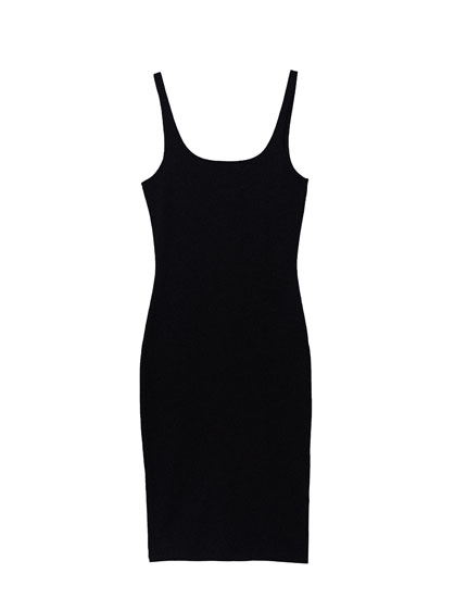 Midi dress with square neckline