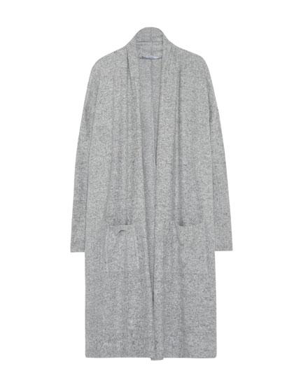 Long soft cardigan