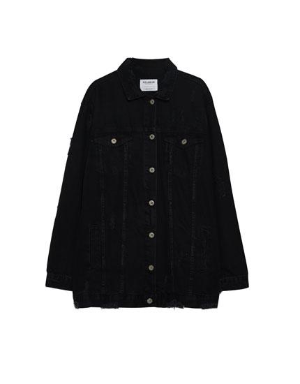 Long oversized denim jacket