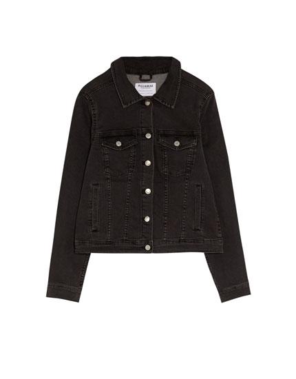 Fitted denim jacket