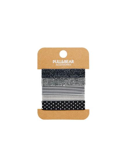 5-pack of hair tie bracelets