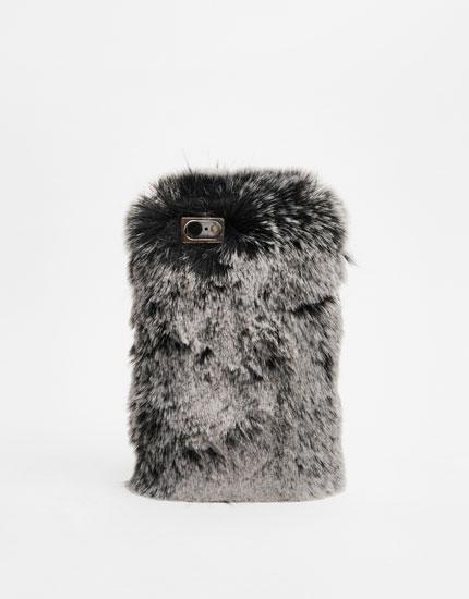Faux fur mobile phone case