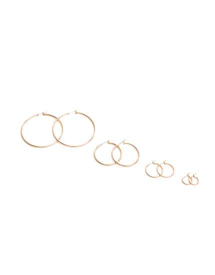 Pack of dangle hoop earrings