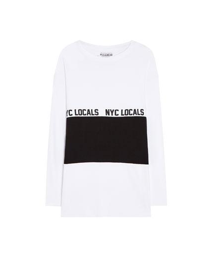 Long sleeve T-shirt with slogan