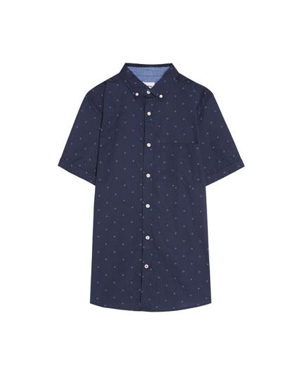 Short sleeve all-over print shirt