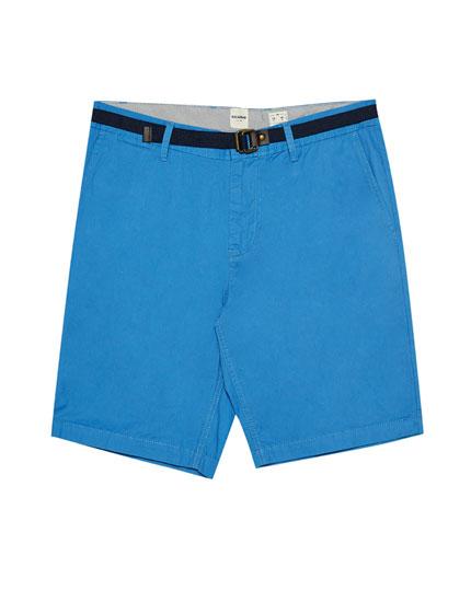 Chino-style Bermuda shorts with belt