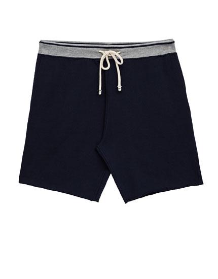 Jogging Bermuda shorts with stretch waist