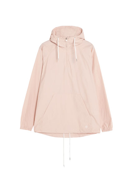 Jacket with pouch pocket